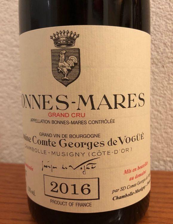 COMTE GEORGES DE VOGUE BONNES-MARES 2016